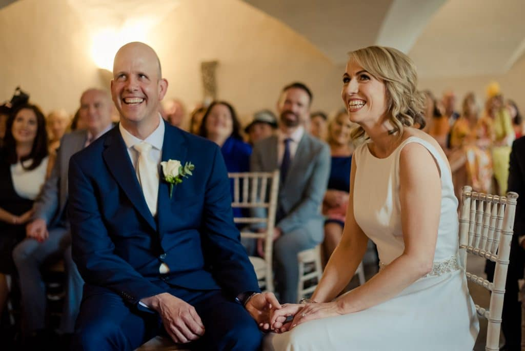 Happy couple getting married at Bellinter House