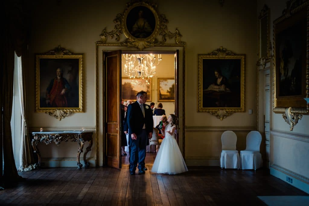 Groom and daughter at Carton House