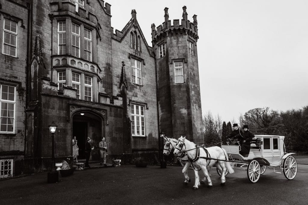 Wedding Horse and Carriage at Kinnitty Castle