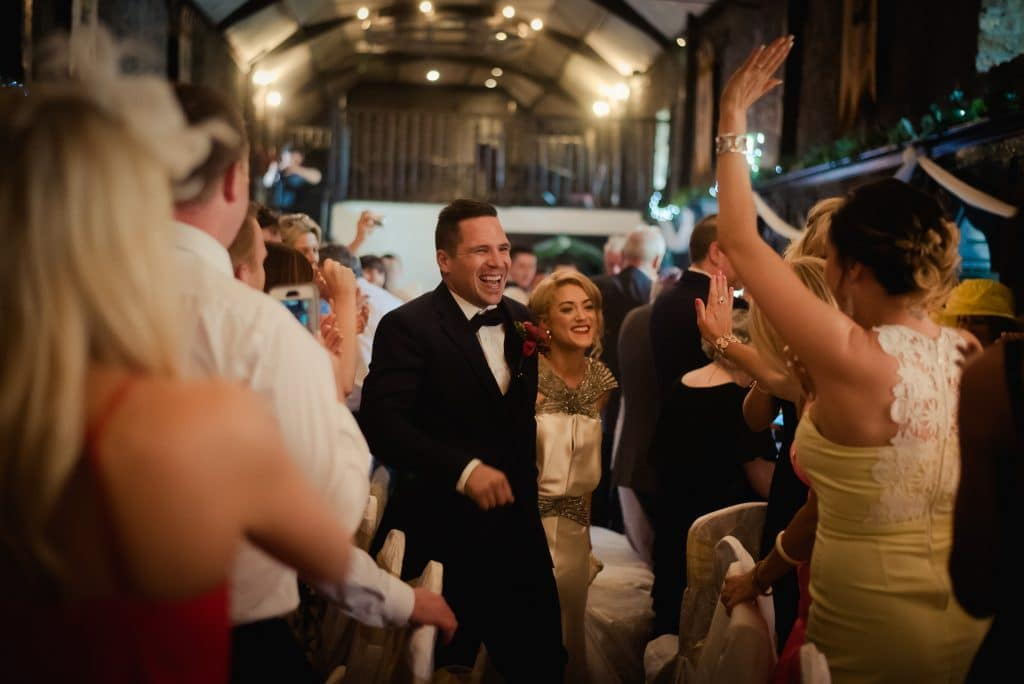 Huge celebrations as wedding couple arrive in Kinnitty Castle