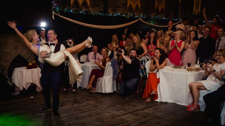 The big wedding dance move celebrations in Kinnitty Castle
